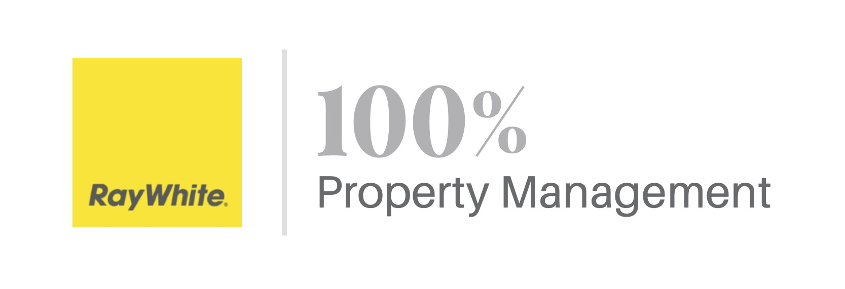 RayWhite 100% Property Management Logo